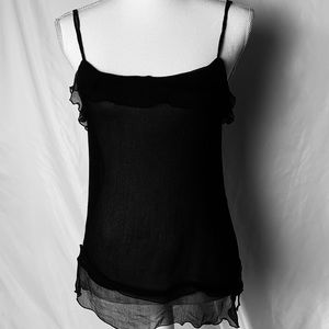 Zara sheer spaghetti strap tank size medium